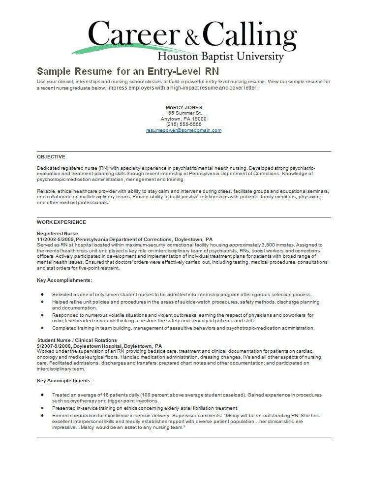 psychiatric rn resume sample