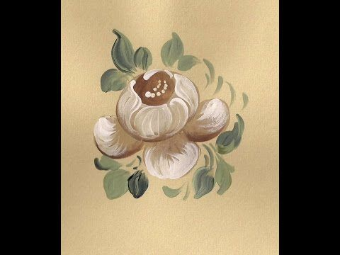 ▶ White Baroque Rose Bauernmalerei, Decorative Painting Online Art Classes - YouTube