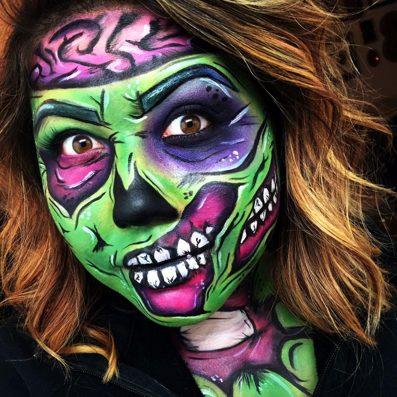 Zombie zombiepopart popart Halloween halloweenmakeup