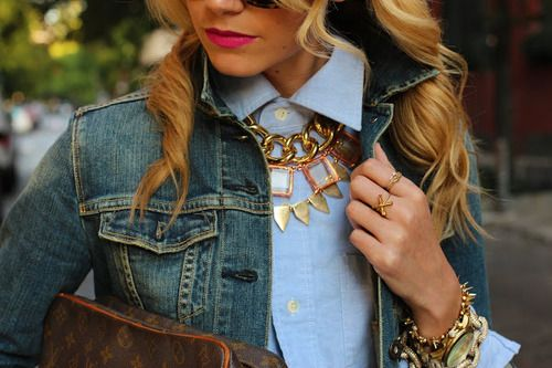 Gold spikes & chains.