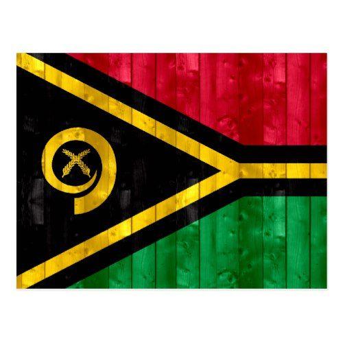 Wooden Vanuatan Flag Postcard   Zazzle.com   Flag painting ...