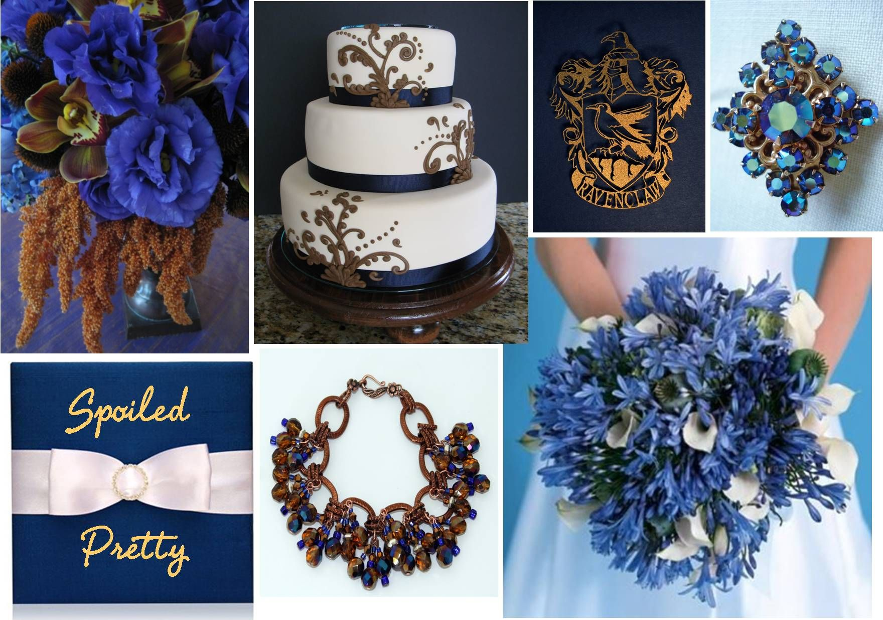 navy gold blue wedding Going to the chapel Pinterest