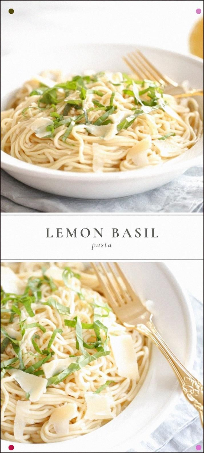 This Easy Basil Lemon Pasta Recipe Is Quick Enough For A Weeknight Dinner But Tastes Special For Date Night