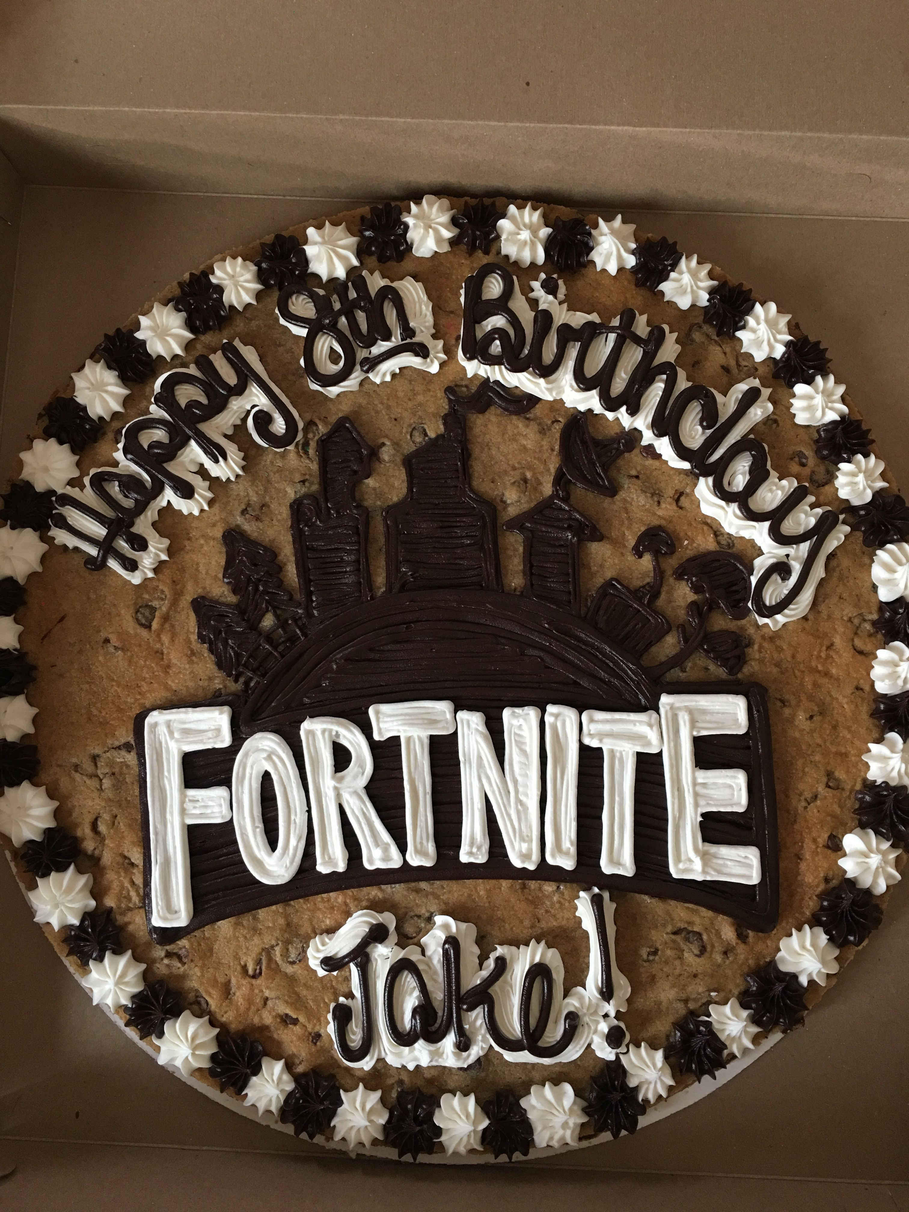 Fortnite Cookie Cake Kids Party In 2019 Cookie Cake Birthday