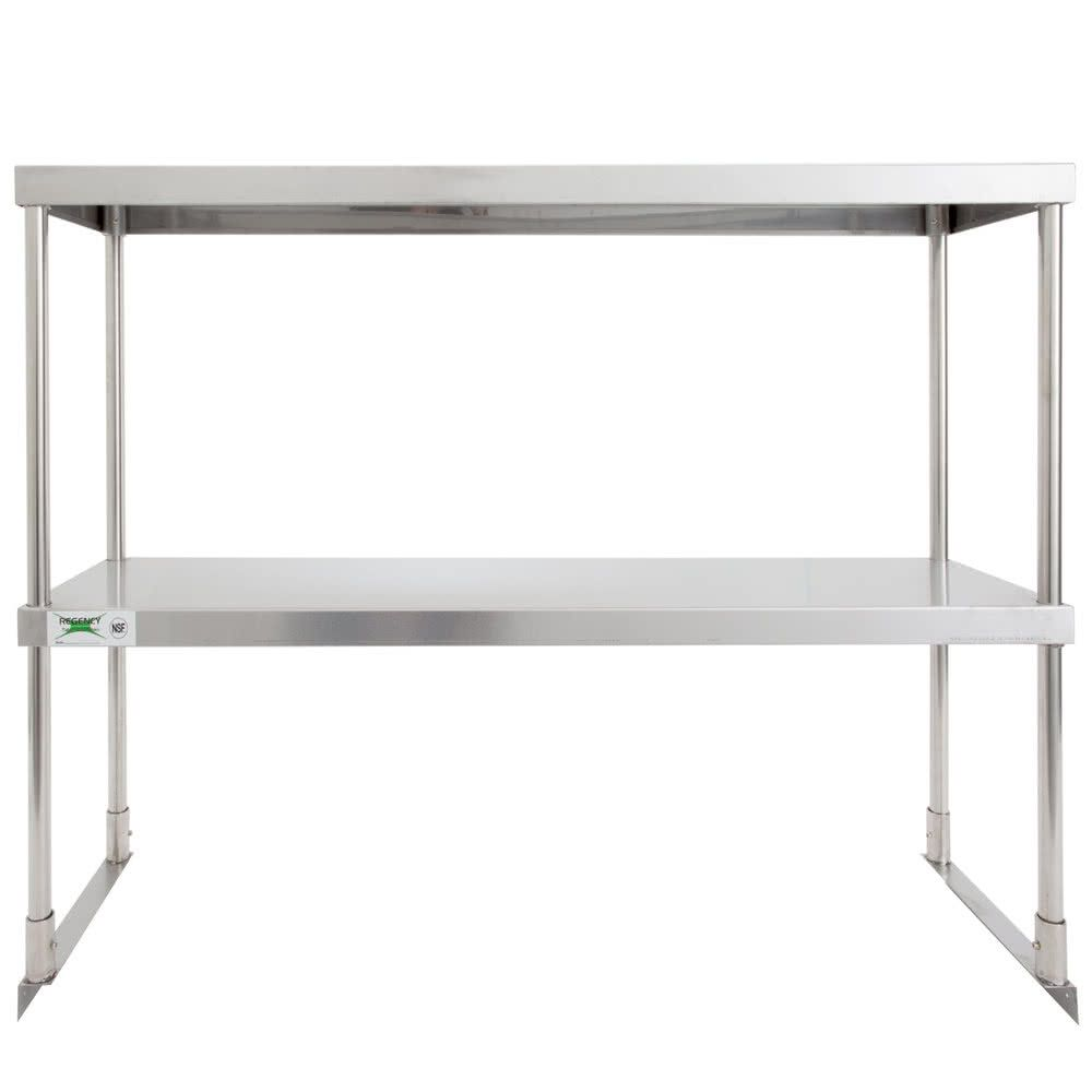 Regency Stainless Steel Double Deck Overshelf 12 X 36 X 32 Steel Deck Shelf Design Double Deck