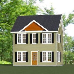 22x24 House 3 Bedroom 3 Bath 987 sq ft PDF Floor Plan Instant Download Model 1A