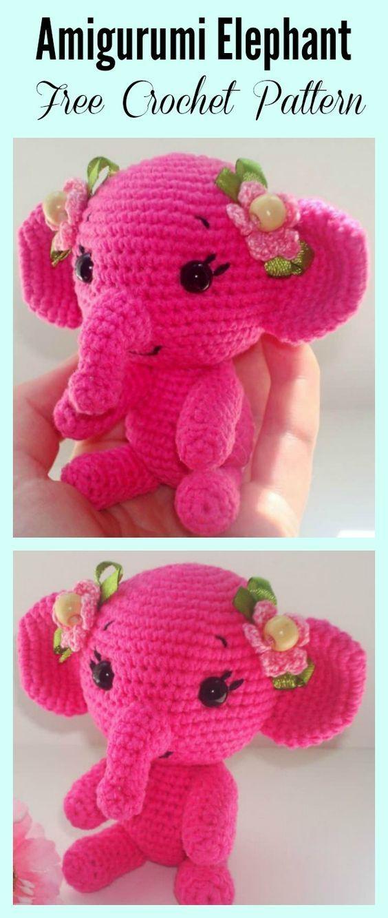 Adorable Crochet Elephant Amigurumi Free Patterns Patterns