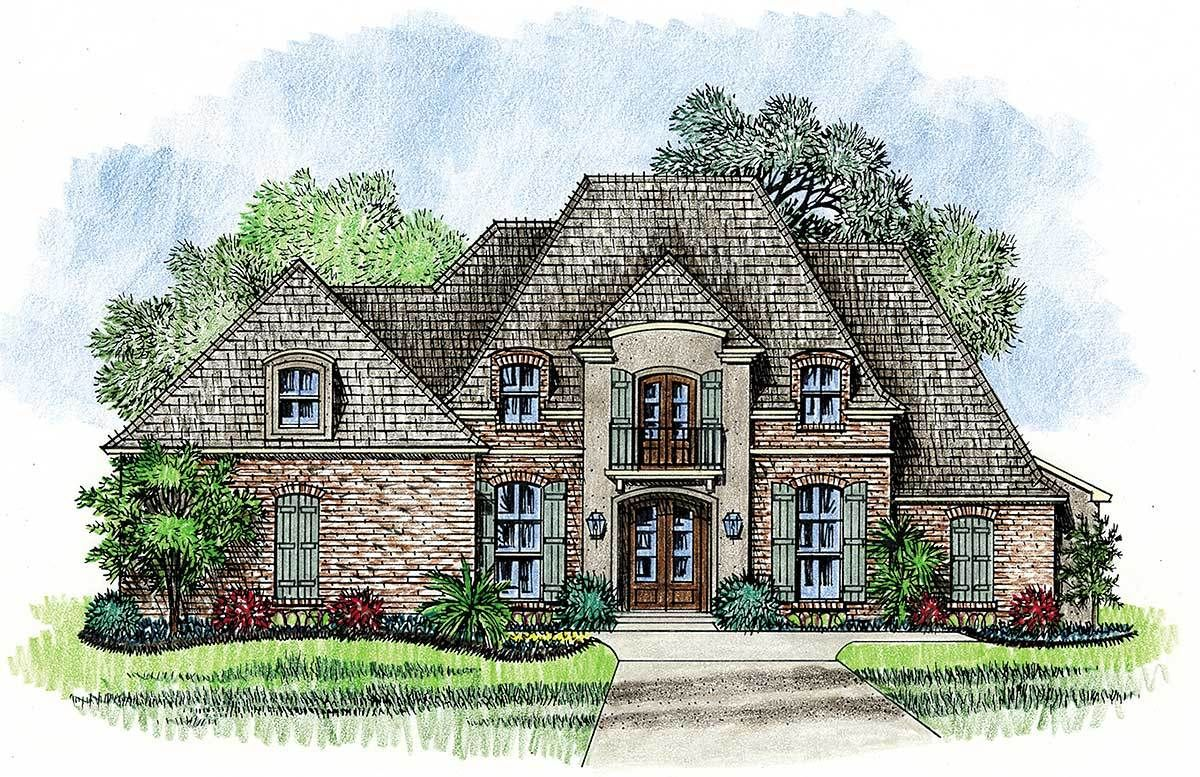 Plan 14127kb Graceful And Elegant 4 Bed Acadian House