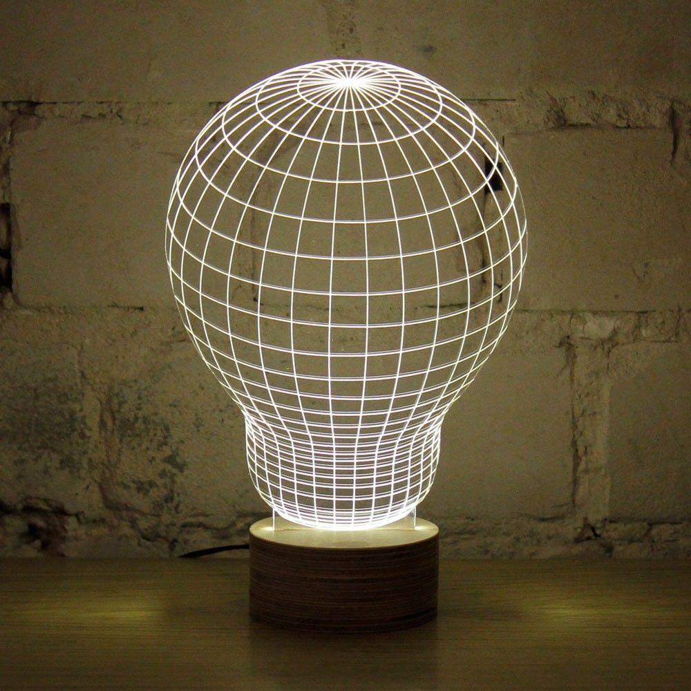 Aliexpress.com: Compre Acrílico lâmpada de mesa 3D Baymax crânio luz Luminaria de mesa LED mesa de luz para quarto abajur presente especial de confiança lâmpada de luz halógena fornecedores em DIY Life Online