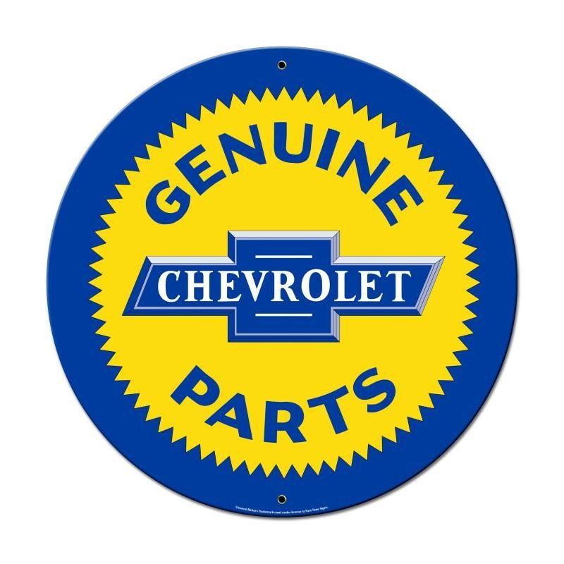 Genuine Chevrolet Parts 28 X 28 Inch Metal Steel Sign Usa Made Vintage Style Retro Garage Art Free Shipping Gmc031 Chevrolet Parts Metal Signs Garage Art
