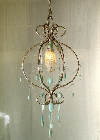 Fiona Chandelier...have to have this in a powder room or bathroom. LOVE IT.
