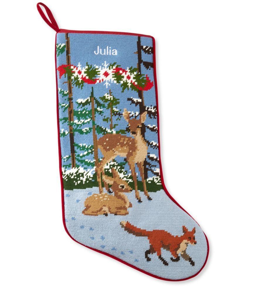 Christmas Needlepoint Stocking, Cotton in 2020
