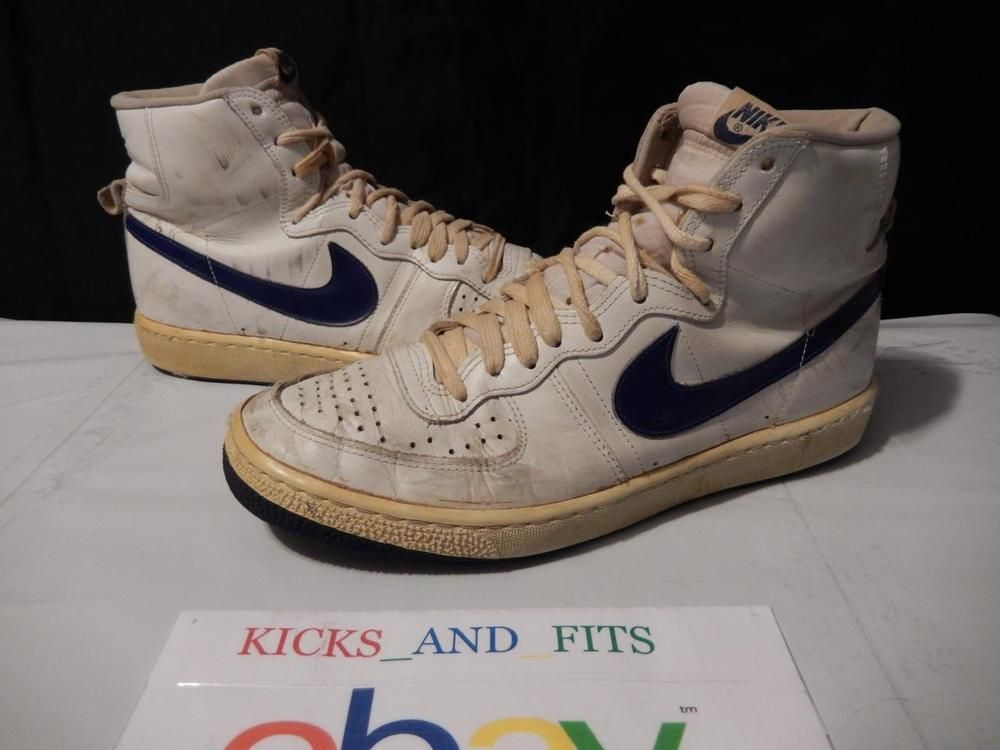 separation shoes 3cefc 81951 VTG OG 1983 Nike Legend PLAYER SAMPLE size 12 White Royal Korea pre Jordan  air Nike AthleticSneakers