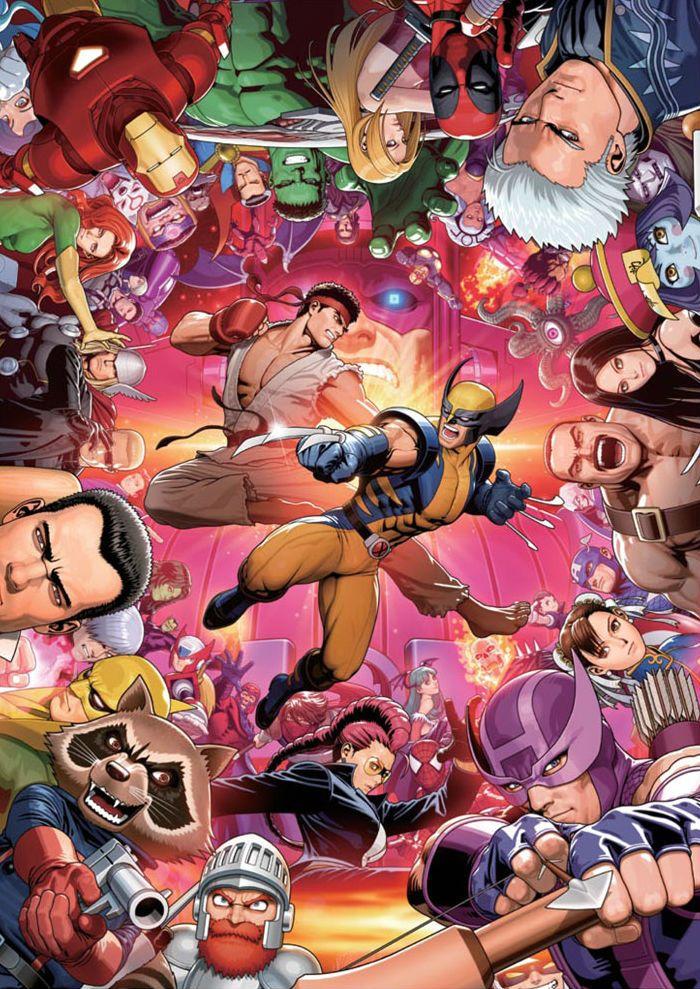 Collage 1 Marvel Vs Capcom Capcom Art Marvel Vs