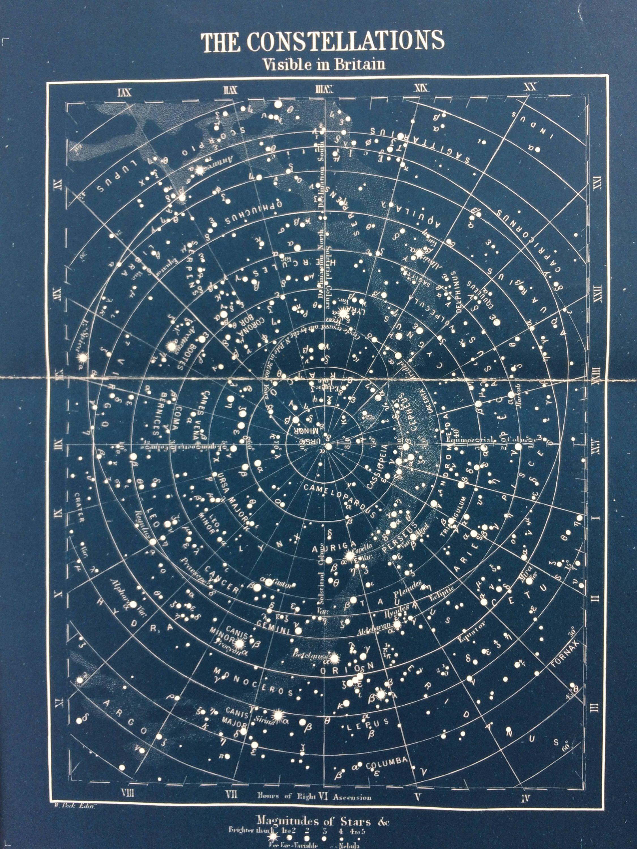 astronomy star charts - 736×981