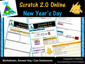 Scratch 2.0 Programming – New Years Day Worksheets