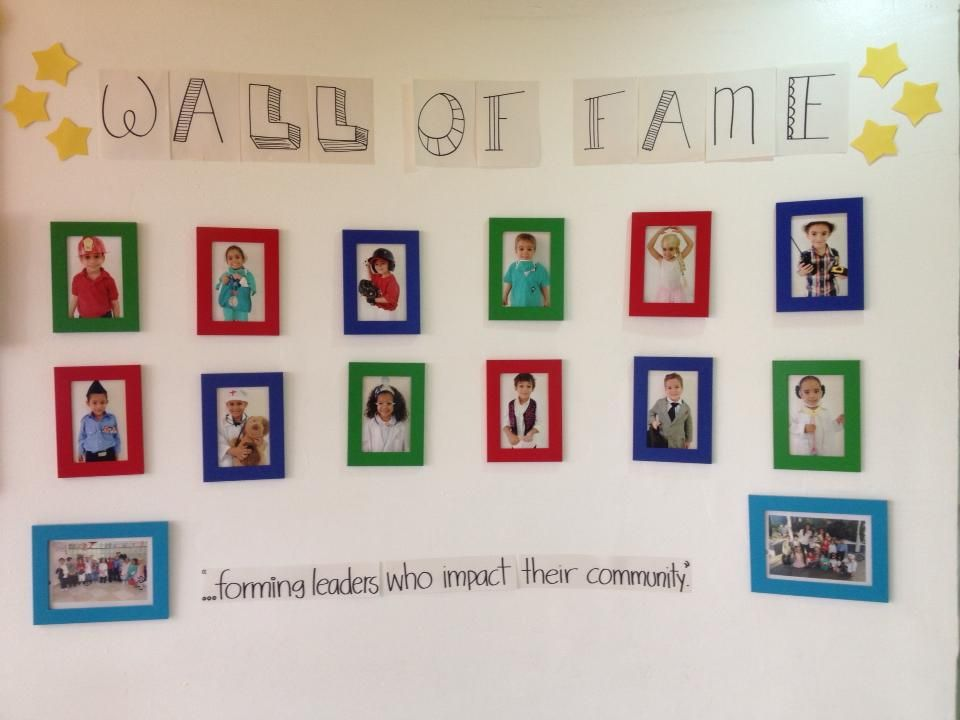 Wall Of Fame Classroom Wall Decor School Library Decor