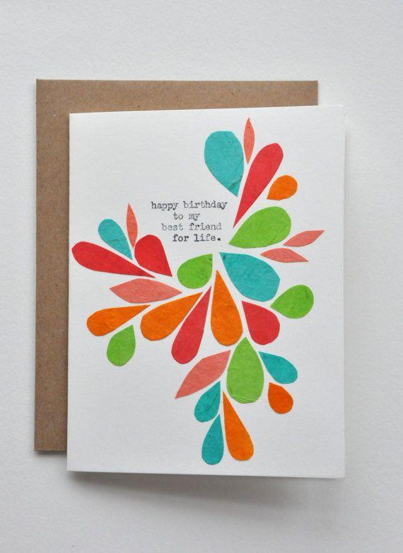 Happy Birthday Birthday Card Best Friend Handmade Card