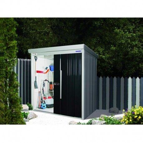 Abri de jardin métal 7,06m² PLUS anthracite + kit d\'ancrage X-METAL