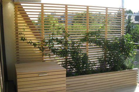 ausstattung Holzterrasse, Sichtschutz terrasse holz