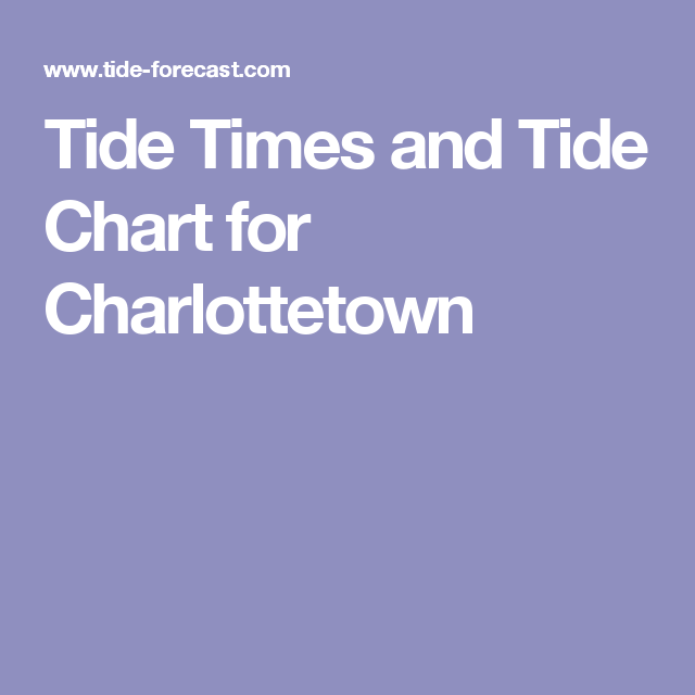 Tide Times And Tide Chart For Charlottetown Time And Tide Charlottetown Tide