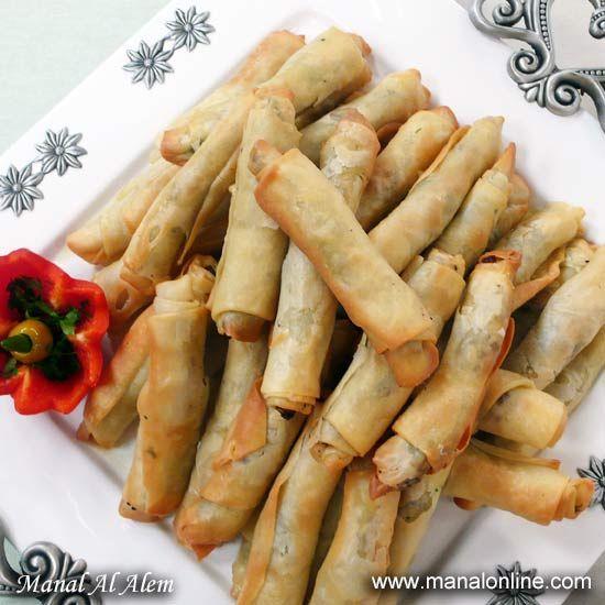 صفيحة أصابع منال العالم Egyptian Food Mediterranean Recipes Middle East Recipes