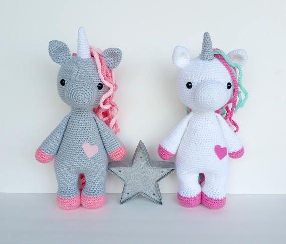 Unicorn crochet pattern, crochet pattern, unicorn doll, unicorn toy ...