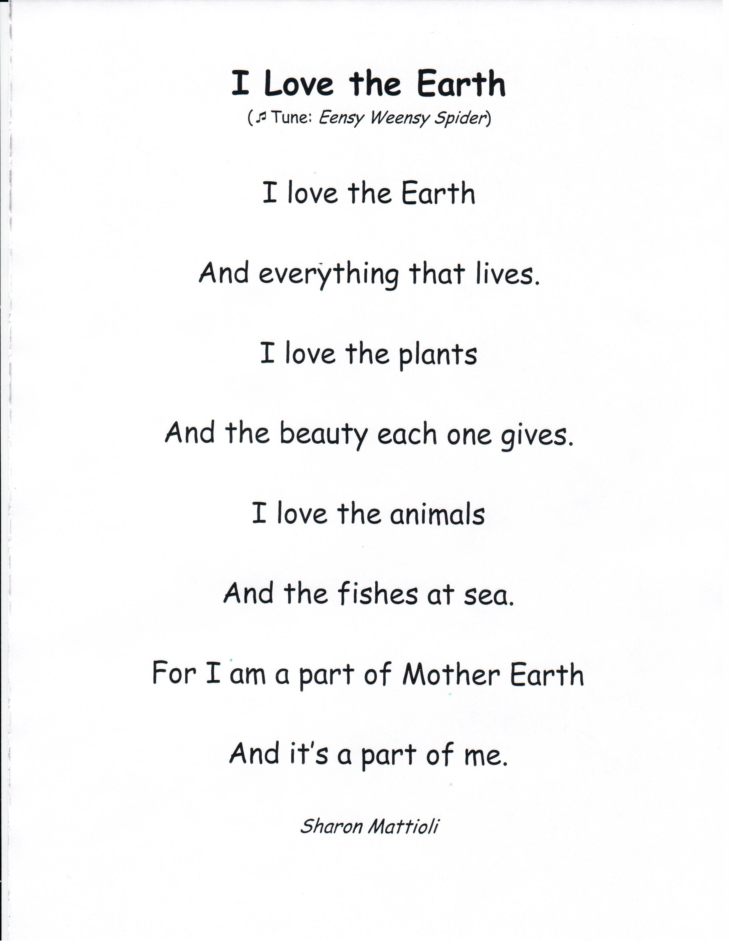 Download I Can Read Anthology Page For I Love The Earth