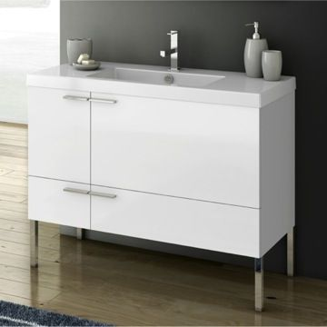 Inch Vanity Cabinet With Fitted Sink Condo Furniture - 39 bathroom vanity cabinet