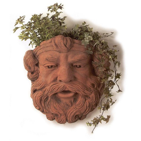 Thos. Baker Neptune Wall Planter ($245) ❤ liked on Polyvore featuring home, outdoors, outdoor decor, patio wall decor, garden wall planter, garden urns, wall mounted planters and terracotta planters
