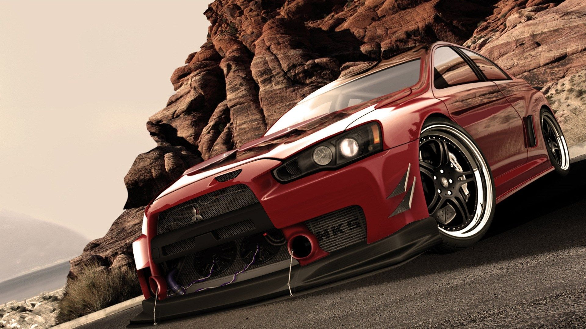 Fast And Furious Animated Mitsubishi Lancer P Hd Wallpapers