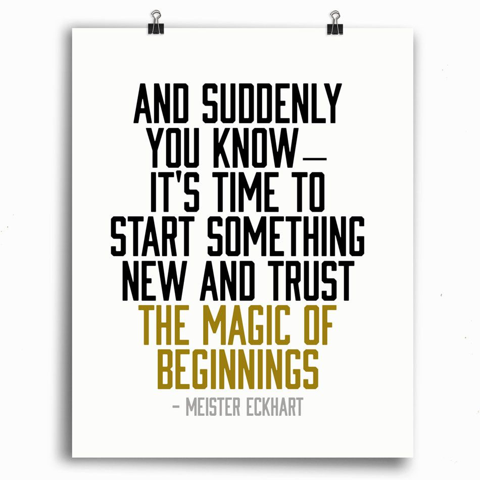 New Year Couple Quotes: Magic Of Beginnings Print