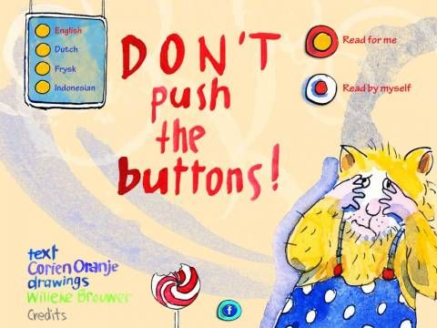 Don't push the buttons, Harry Hamster - kids picture book with simple interactions. Original Appysmarts score: 72/100