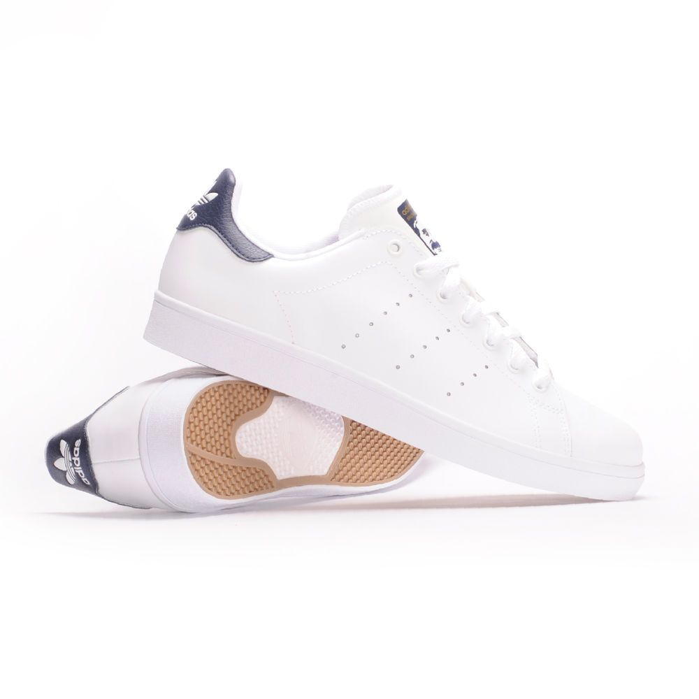 Adidas Stan Smith Vulc (White / blanco / Collegiate Navy) hombre 's skate