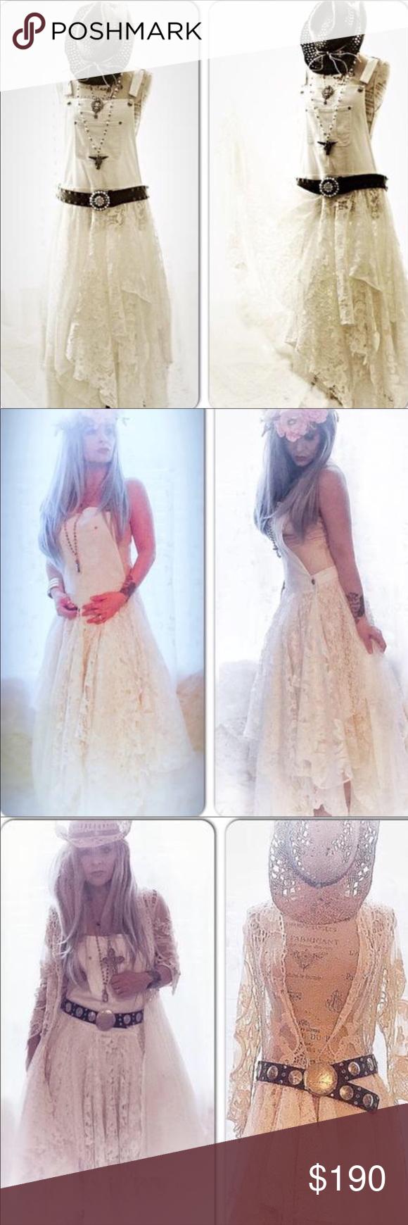 78e5ffa2446 NEW Shabby Boho Chic Overalls Lace Maxi Dress NEW Boho White lace Maxi Dress