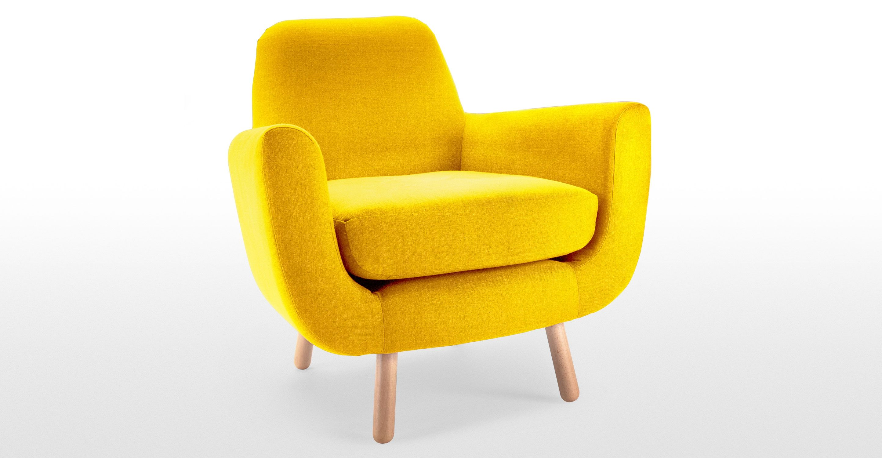 james harrison chair top grain leather club recliner jonah armchair in dandelion yellow made c andd
