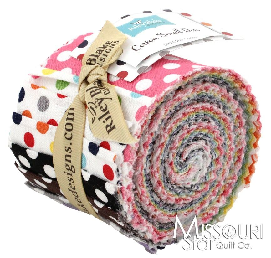 Cotton Solids - Small Dots Jelly Roll by Riley Blake Designs SKU# RP-350-14