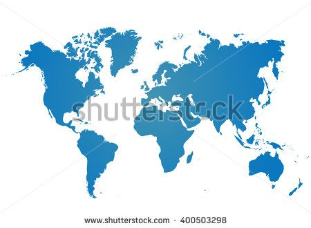 Blank blue similar world map isolated on white background best blank blue similar world map isolated on white background best popular worldmap vector template for gumiabroncs Choice Image