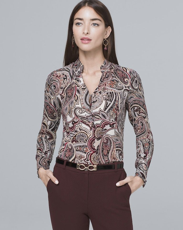 314e4394ed3 Women s Silk Paisley Shirt by White House Black Market