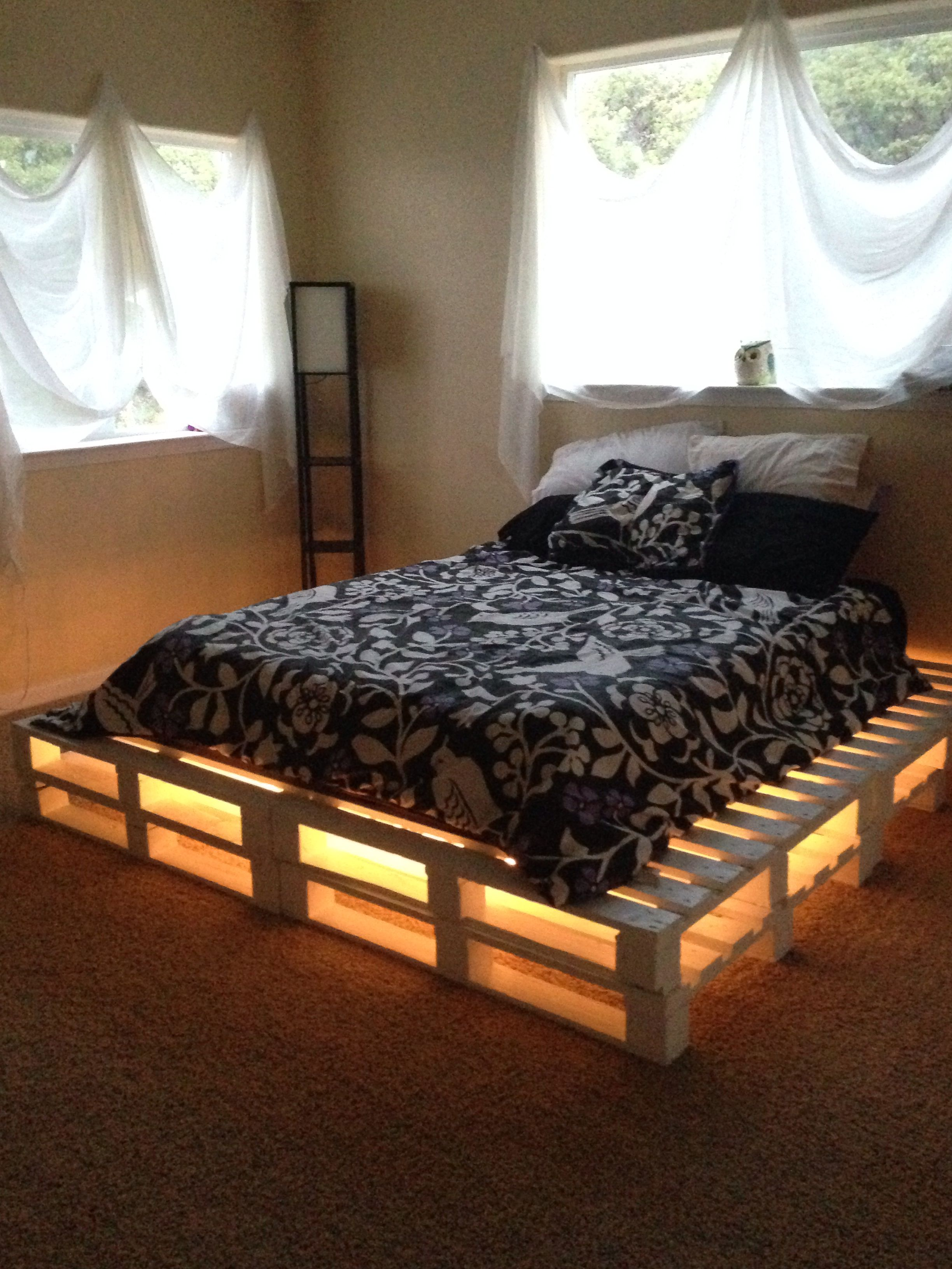 With Pallets Stacking Sanding