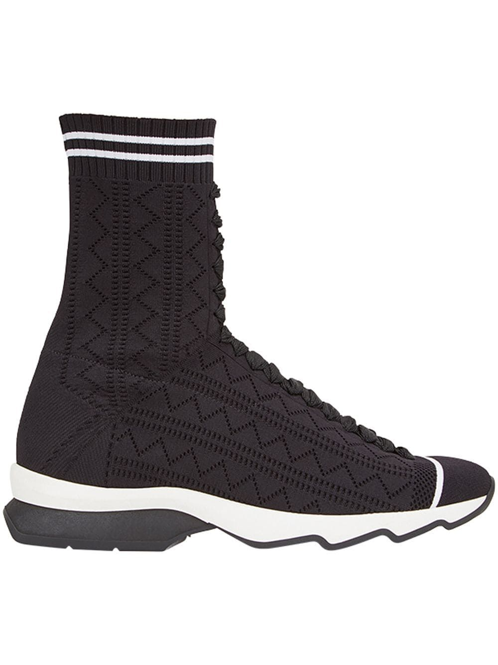 984ba636c3 Fendi open work sneakers - Black in 2019 | Products | Work sneakers ...