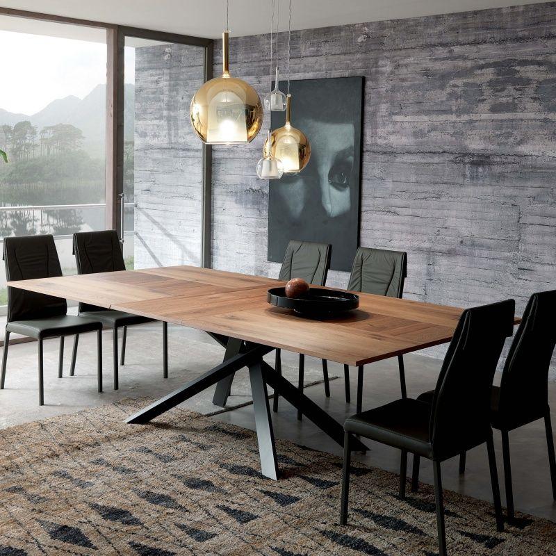 Table Design Extensible Rectangulaire En Bois Et Métal 4x4