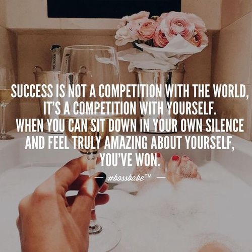 Success Is Not A Competition With The World