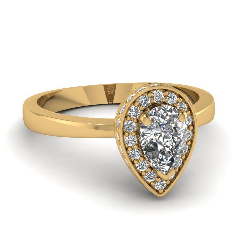 yellow-gold-pear-white-diamond-engagement-wedding-ring