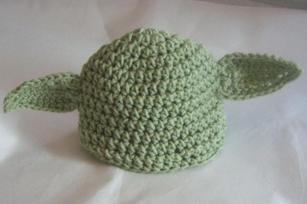 Newborn 0-3 Month Size Yoda Baby Beanie Hat Star Wars Inspired So Cute Baby Shower Gift photographer prop