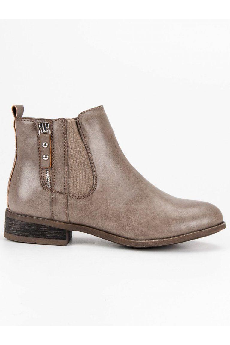 Béžové topánky na plochom podpätku pérka Kayla  6a10d8dfcfb