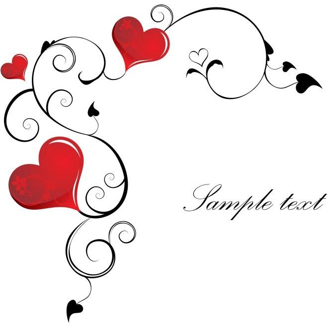 free vector Happy Valentines Day Sample Text Design Background