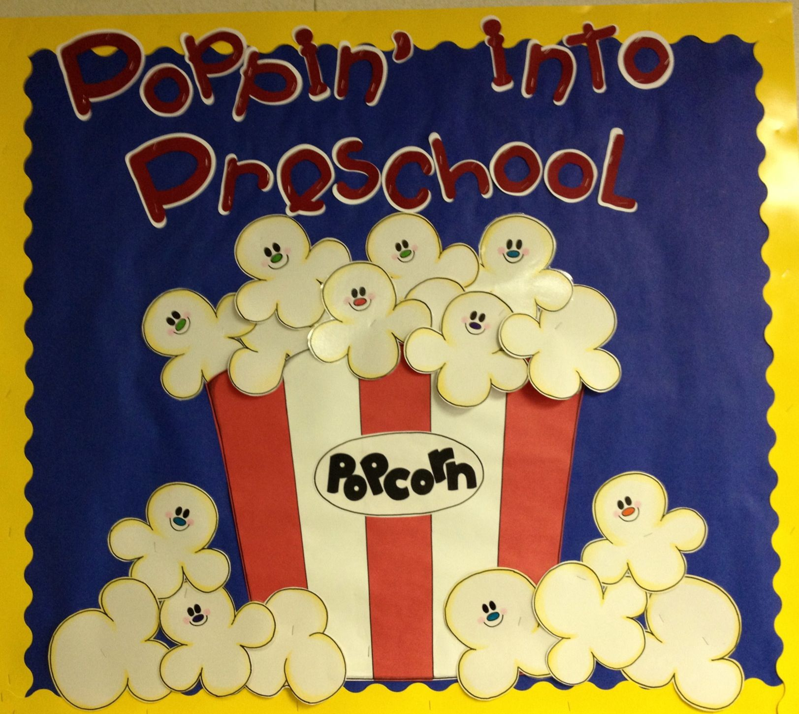Classroom Welcome Ideas : Poppin into preschool makes a cute welcome or open house