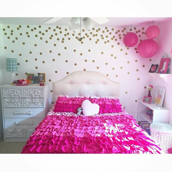 2'' polka dots, confetti wall circles, circle wall decals, girls