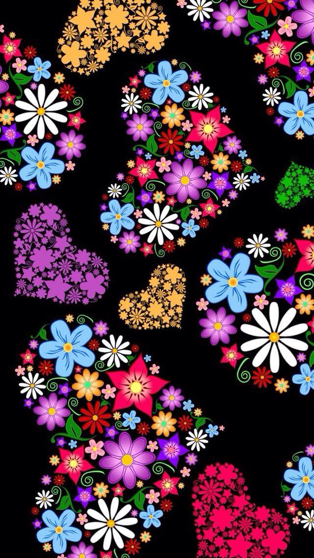 Corazones y flores patterns templates fondos de for Imagenes de fondos bonitos